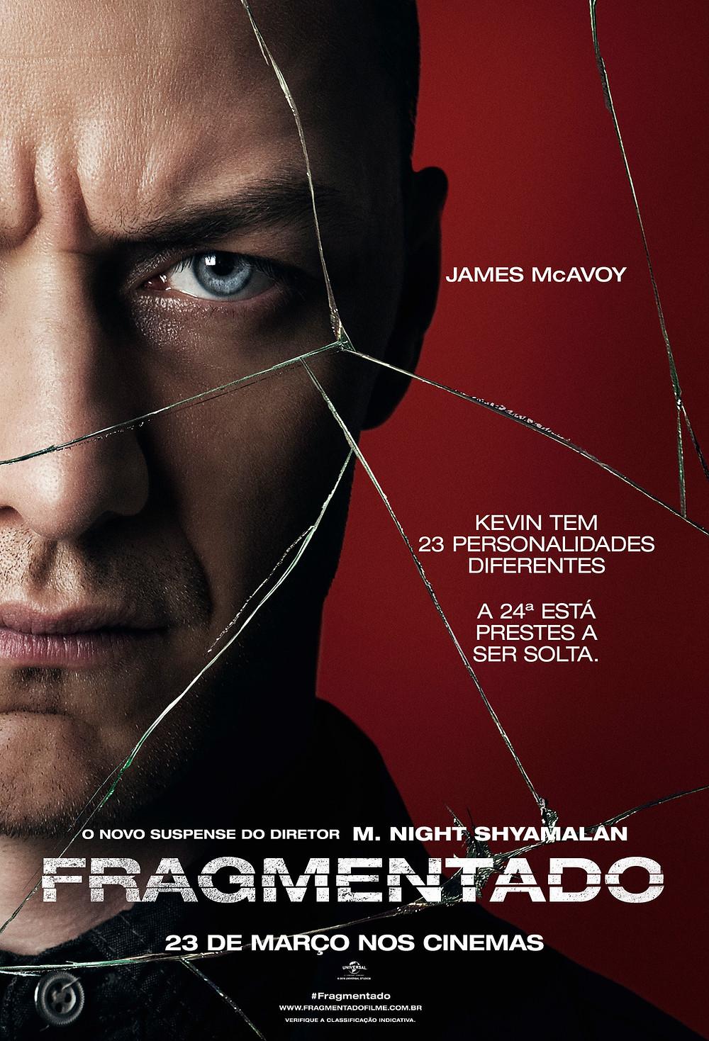 Cartaz do filme Fragmentado (2017) | Divulgação (Universal Pictures)