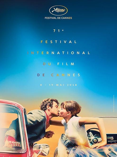 Oficial pôster Cannes 2018 © Design: Flore Maquin   Foto: Pierrot le fou © Georges Pierre