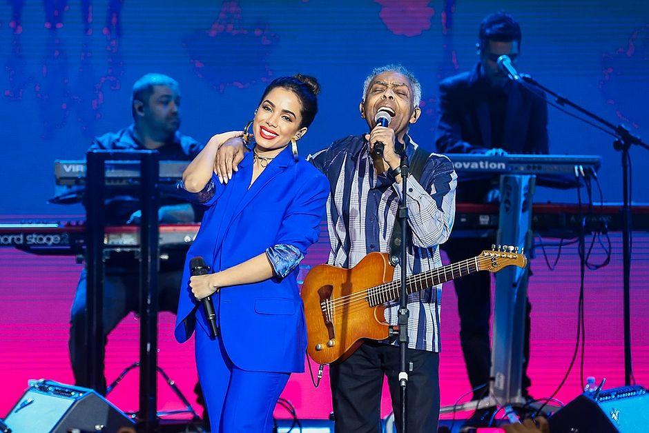 Anitta e Gilberto Gil