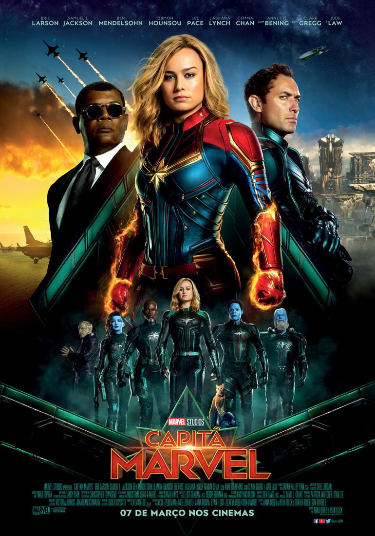 Pôster do filme Capitã Marvel (2019) | Divulgação (Disney)