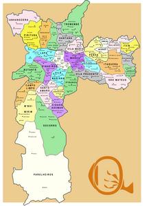 Mapa da cidade de São Paulo