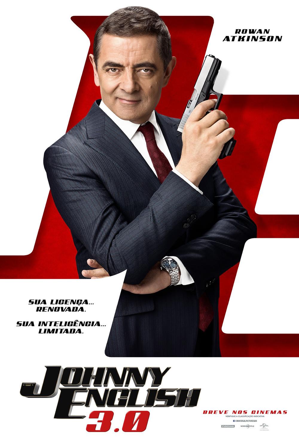 Cartaz da comédia Johnny English 3.0 (2018) | Divulgação (Universal Pictures)