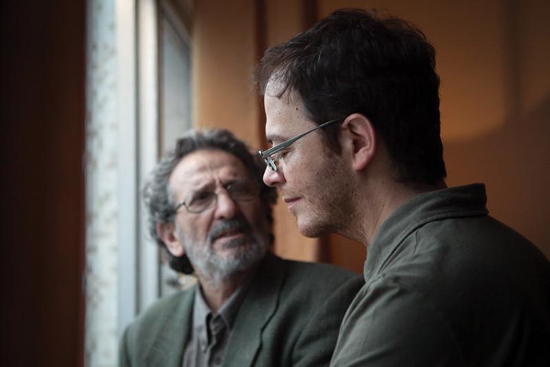 O ator argentino Ricardo Merkin e o cineasta André Ristum durante as filmagens de A Voz do Silêncio (2018) | Foto: Divulgação