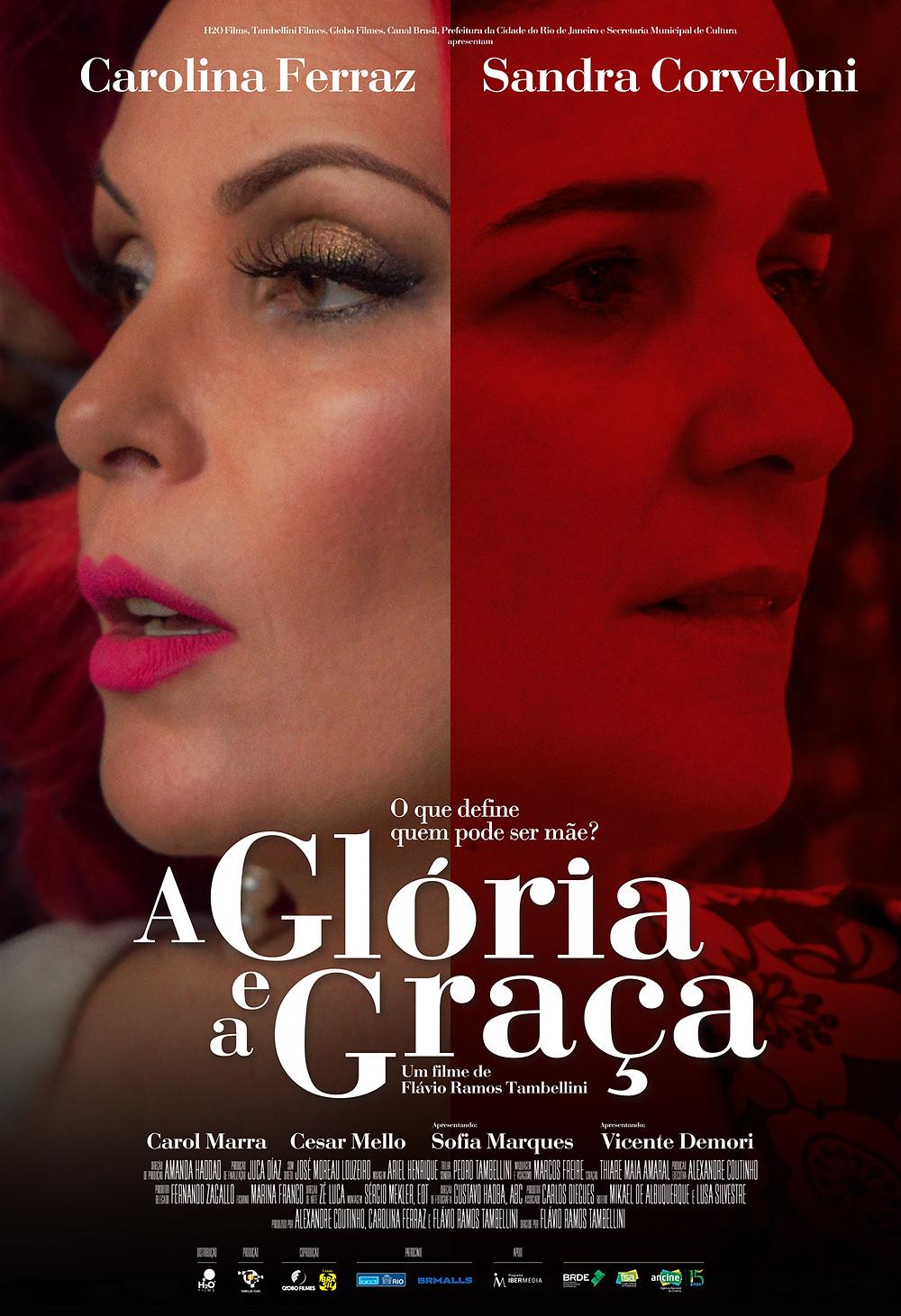 Cartaz do filme nacional A Glória e a Graça (2016) | Divulgação