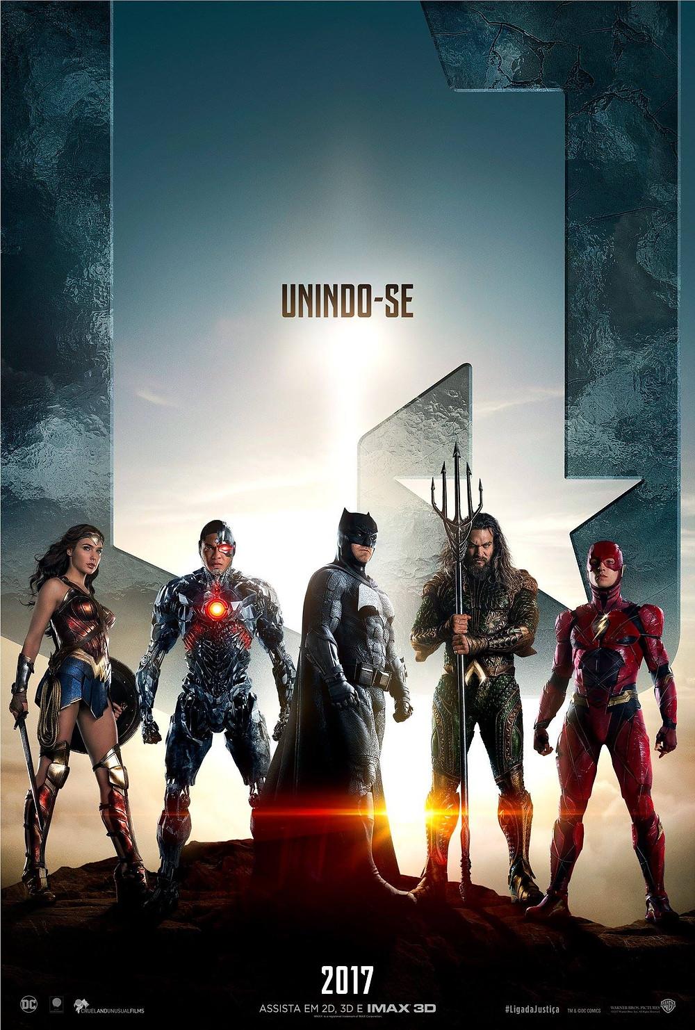 Cartaz do filme Liga da Justiça (2017) | Divulgação (Warner Bros.)