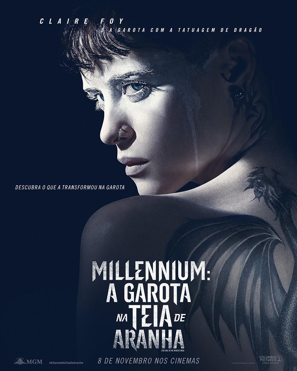 Pôster de Millenium: A Garota Na Teia de Aranha (2018)   Divulgação (Sony Pictures)