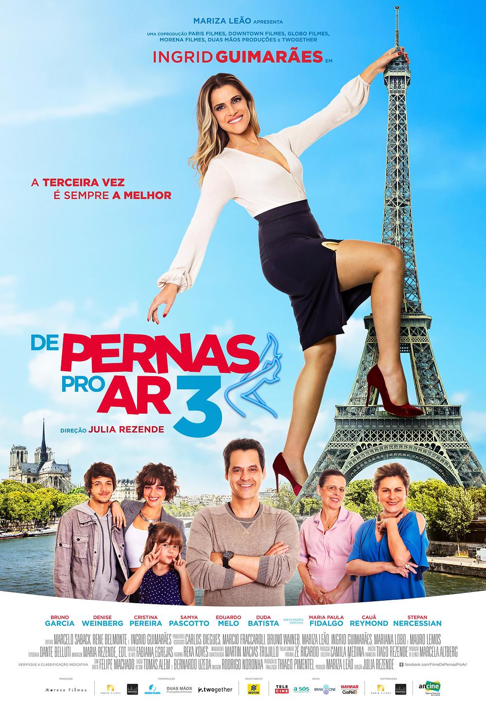 Cartaz oficial do filme De Pernas pro Ar 3 (2019) | Divulgação (Downtown Filmes / Paris Filmes)