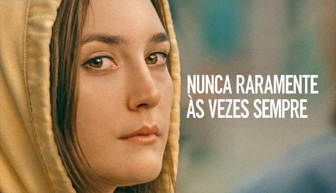 Banner do filme norte-americano Nunca, Raramente, Às Vezes, Sempre (Never Rarely Sometimes Always, 2020), de Eliza Hittman | Divulgação