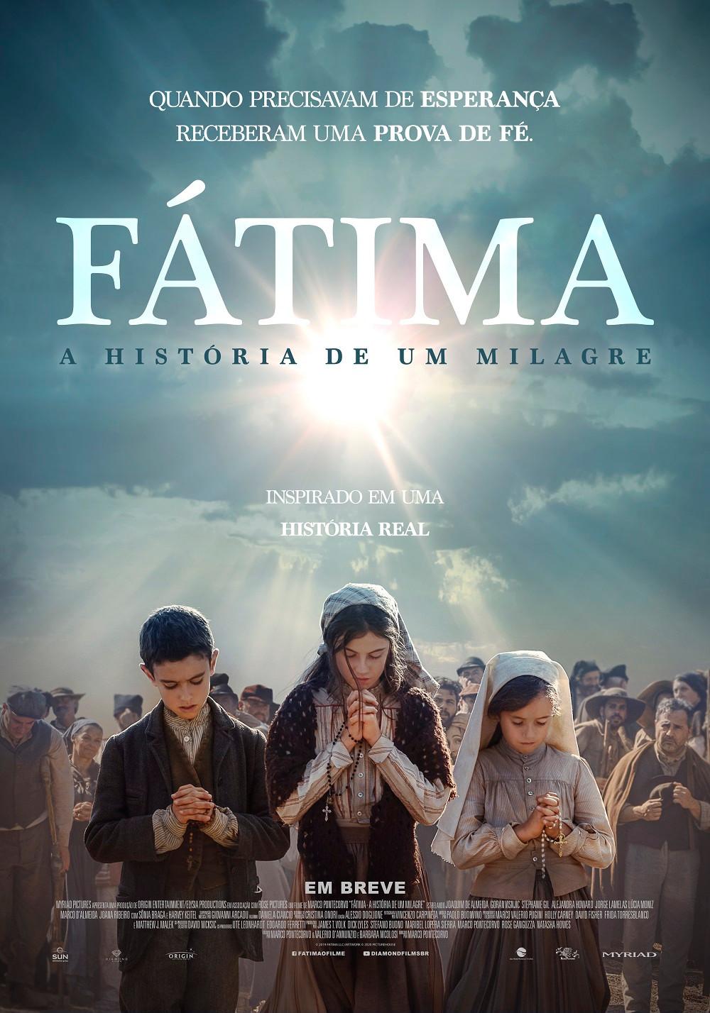 Pôster do filme Fátima – A História de um Milagre | Divulgação (Diamond Films)