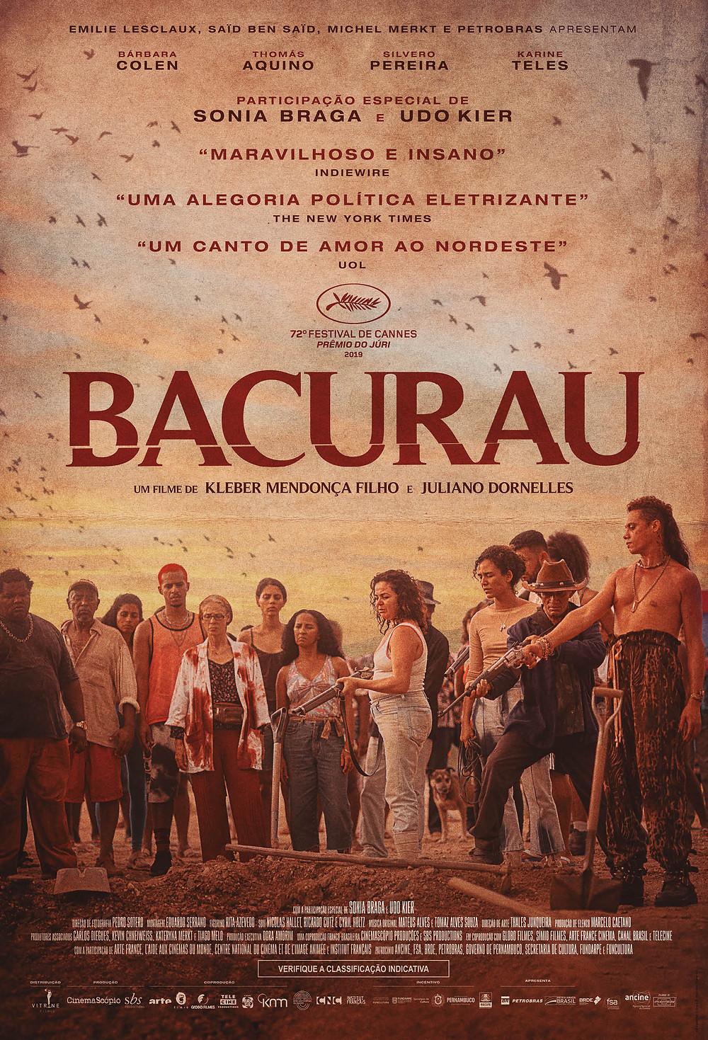 Cartaz 1 de Bacurau (2019) | Divulgação (Vitrine Filmes)