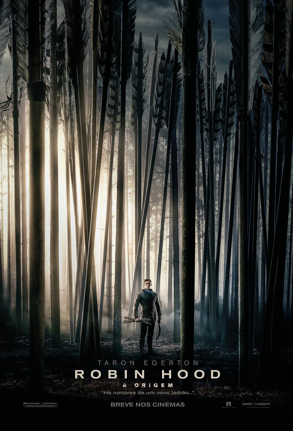 Teaser pôster do filme Robin Hood – A Origem (2018) | Divulgação (Paris Filmes)