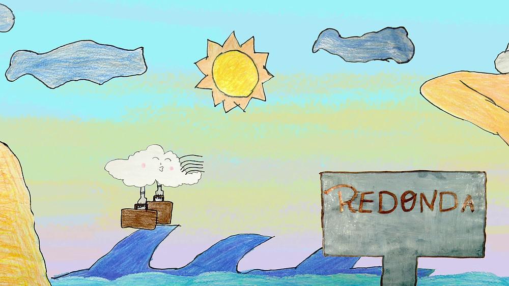 Cena do curta de animação brasileiro Vento Viajante (2020), produção realizada pelo Instituto Marlin Azul com alunos do Ensino Fundamental de escolas municipais da cidade de Icapuí, no litoral do Ceará | Foto: Divulgação (Mostra Tiradentes)