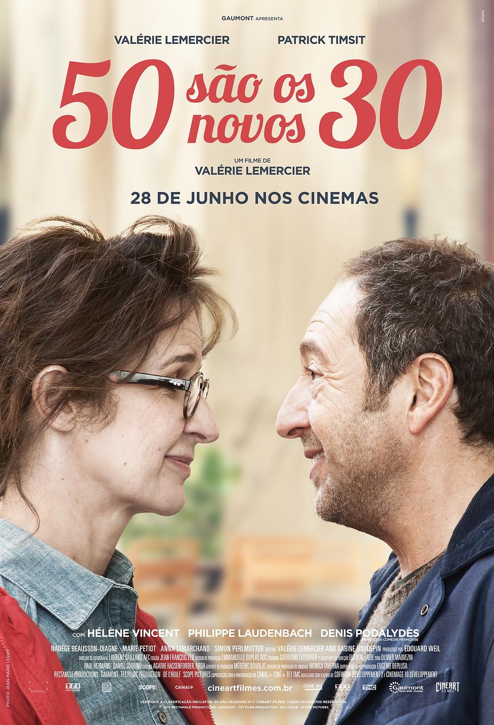 Cartaz de 50 São os Novos 30 (2017) | Divulgação (Cineart Filmes)