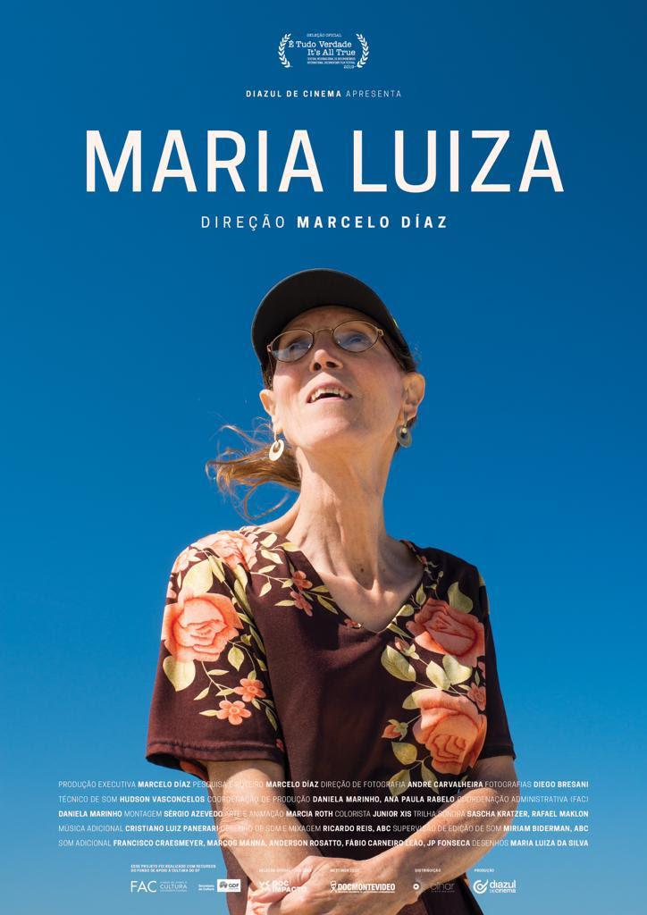 Cartaz do documentário Maria Luiza (2019) | Divulgação (Olhar Distribuidora)