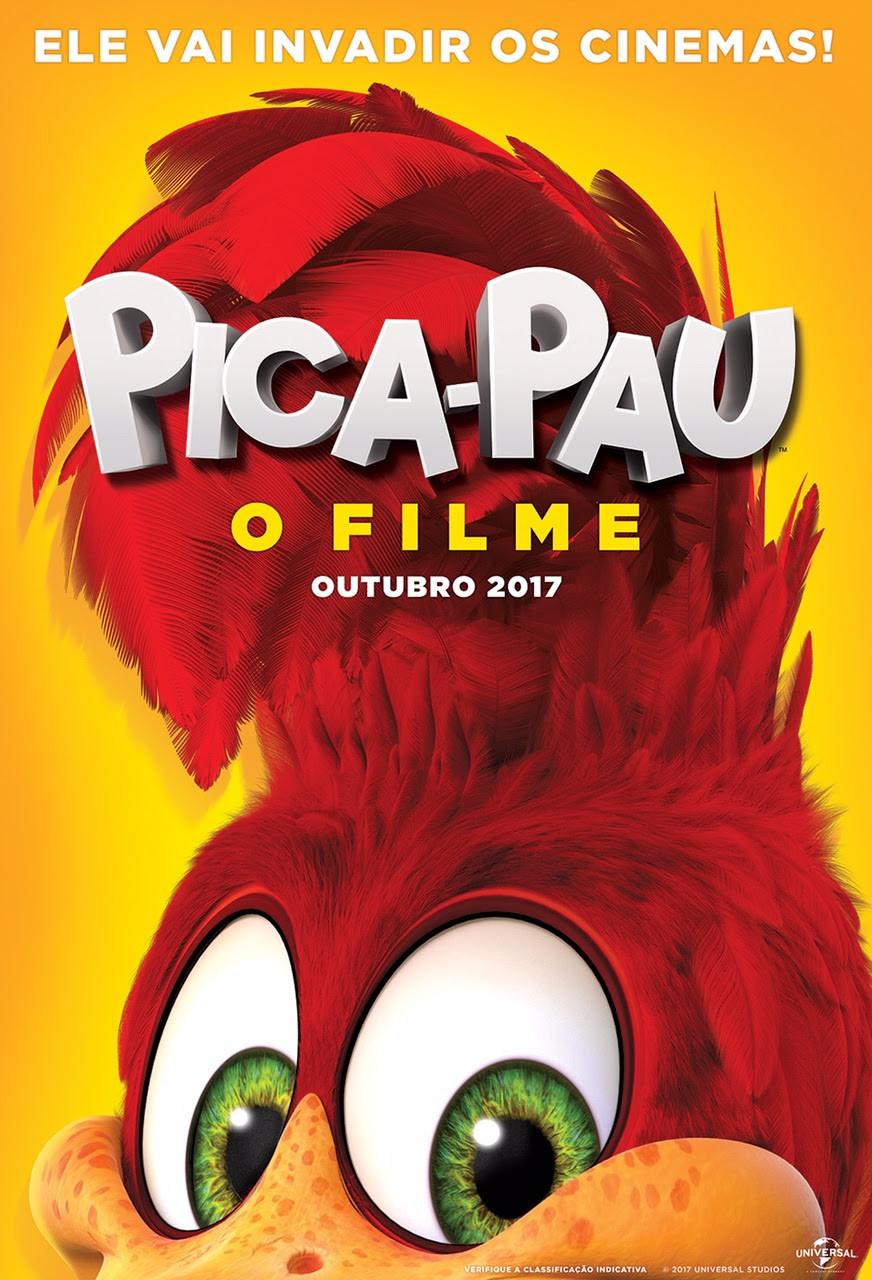 Teaser pôster do filme live action Pica-Pau (2017) | Divulgação (Universal Pictures)