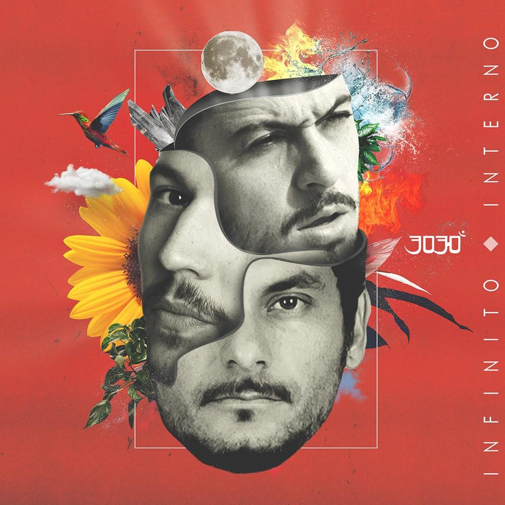 Capa do disco Infinito Interno (2020), novo álbum do grupo de hip hop nacional 3030 | Divulgação