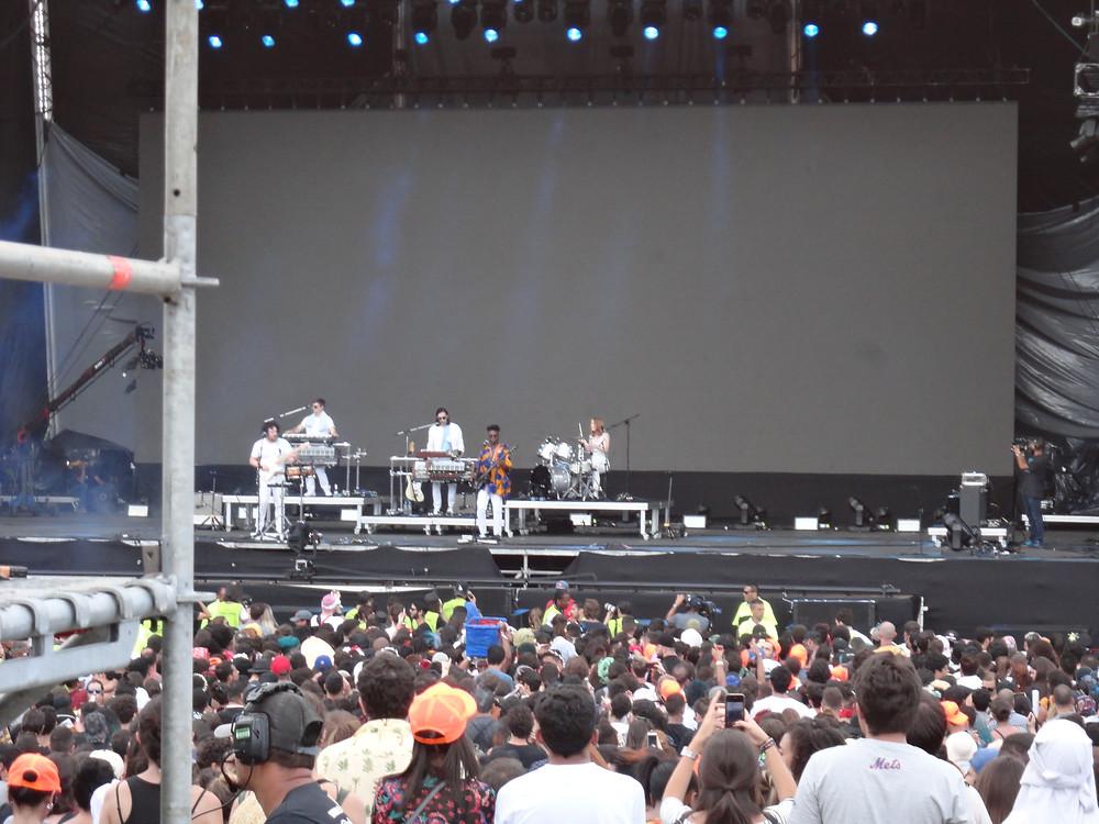 A banda britânica Metronomy no Lollapalooza 2018 | Foto: Nayara Reynaud