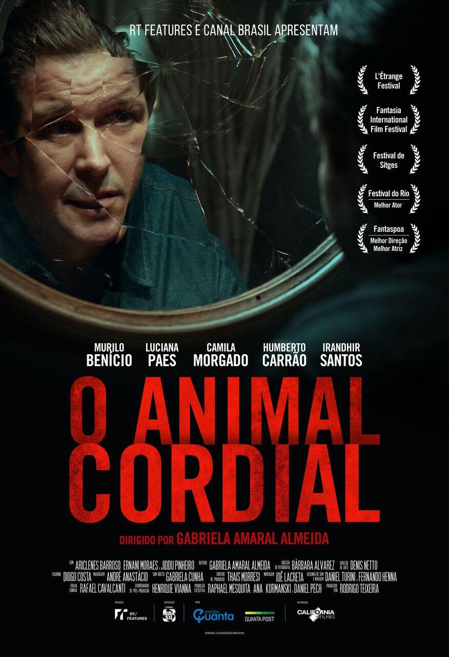 Pôster do filme brasileiro O Animal Cordial (2017), de Gabriela Amaral Almeida | Foto: Divulgação (RT Features)