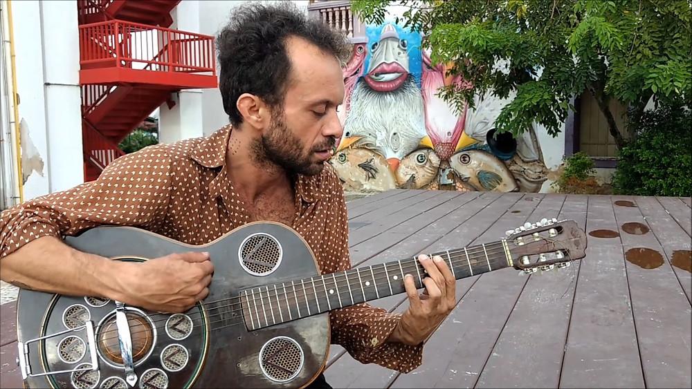 O músico Vitor Colares