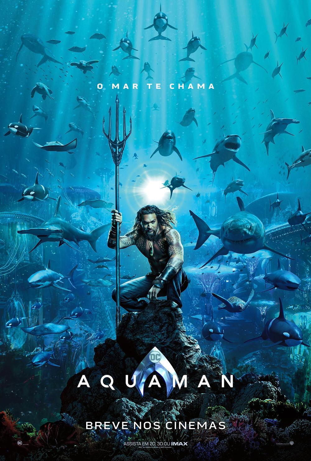 Teaser pôster de Aquaman (2018) | Divulgação (Warner Bros. Pictures)