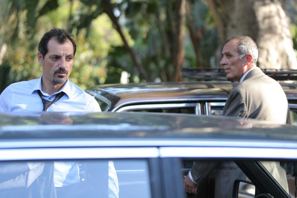 Adel Karam e Kamel El Bacha em cena do filme libanês O Insulto (L'insulte, 2017) | Foto: Divulgação (Imovision)