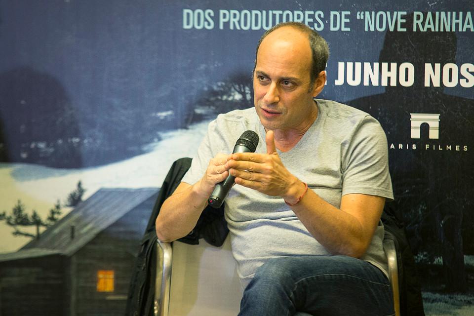 Martin Hodara na coletiva de imprensa do filme Neve Negra (2017) em São Paulo | Foto: Pedro Fernandes / Divulgação