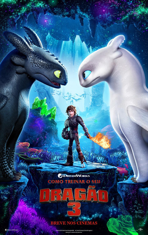 Cartaz teaser de Como Treinar o Seu Dragão 3 (2019) | Divulgação (DreamWorks / Universal Pictures)