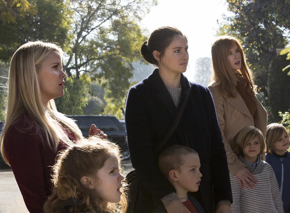 Reese Whiterspoon, Shailene Woodley e Nicole Kidman em cena da minissérie Big Little Lies (2017) | Foto: Divulgação (HBO)