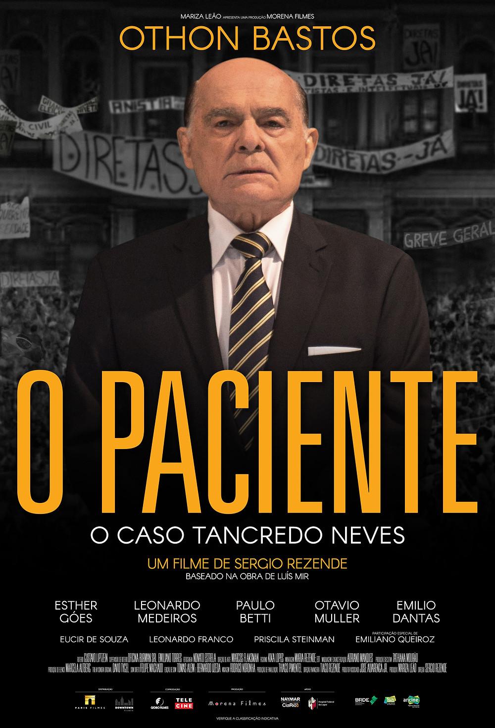 Cartaz de O Paciente – O Caso Tancredo Neves (2018) | Divulgação (Downtown Filmes / Paris Filmes)