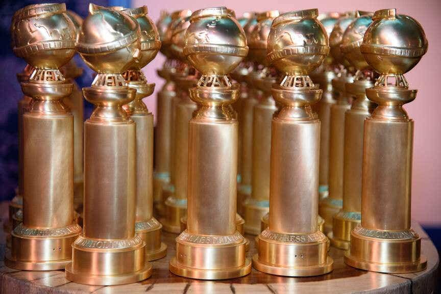 As estatuetas do Globo de Ouro | Foto: Divulgação (HPFA)
