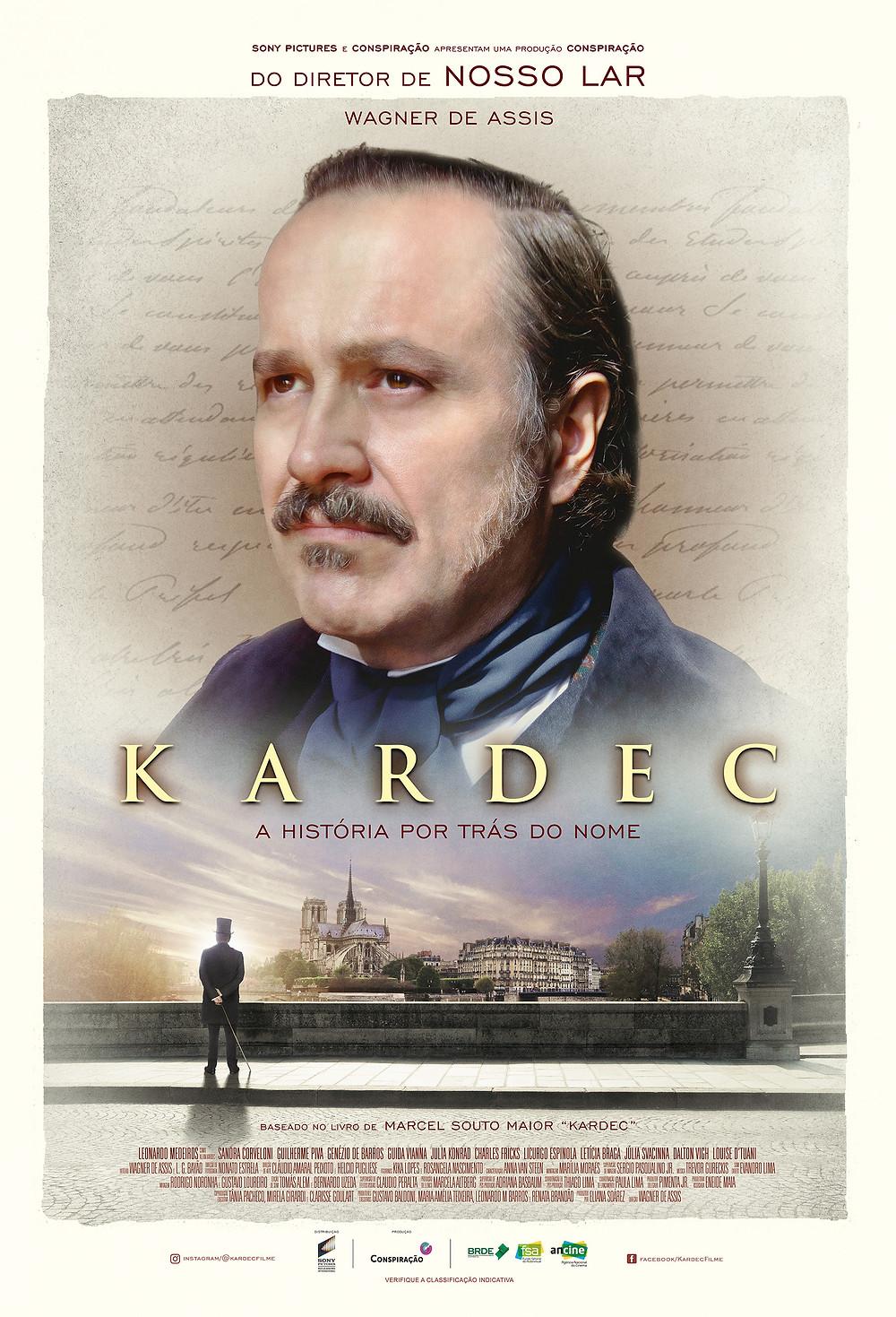 Cartaz do filme nacional Kardec (2019) | Divulgação
