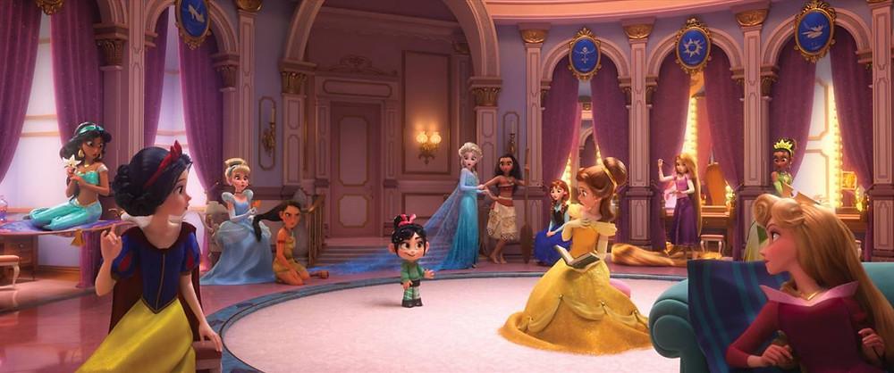 Princesas em WiFi Ralph (2019) | Foto: Divulgação (Disney)