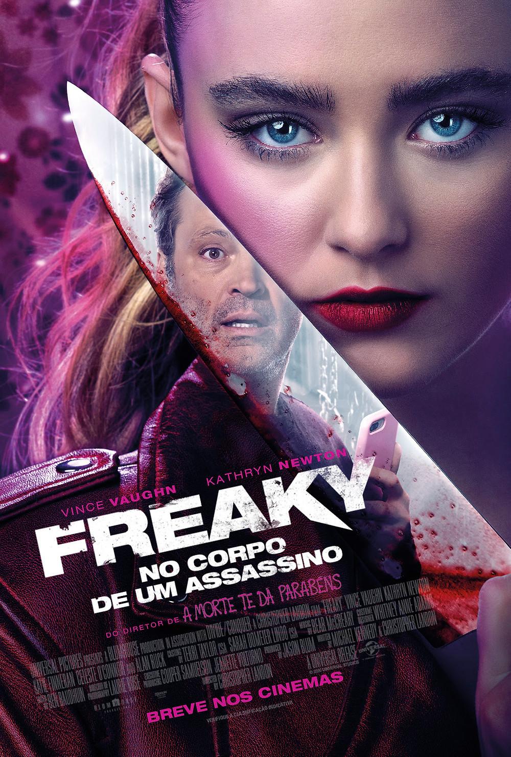 Cartaz do filme de terror cômico Freaky: No Corpo de um Assassino (2020), de Christopher Landon | Divulgação (Universal Pictures)