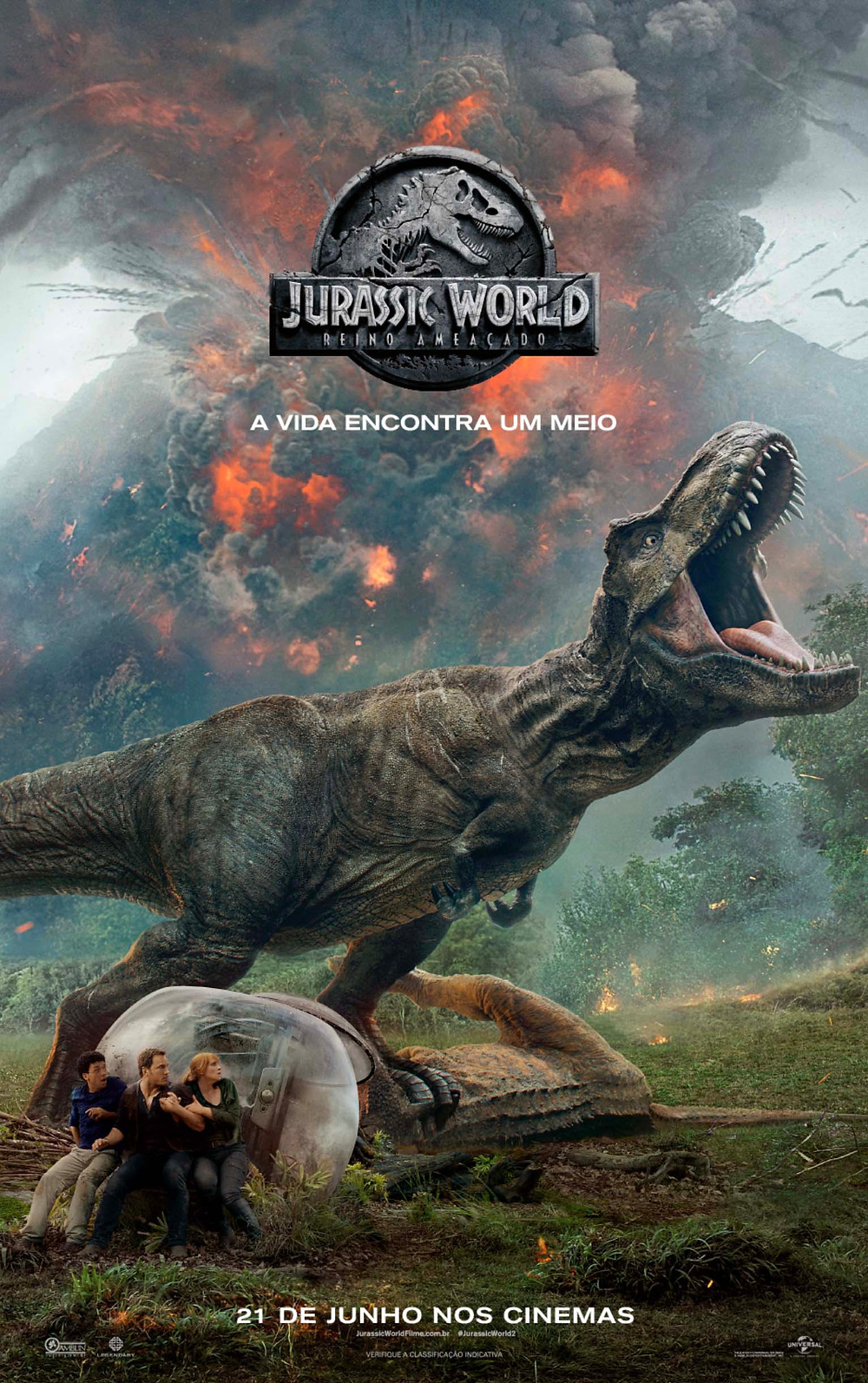 Pôster de Jurassic World: Reino Ameaçado (2018) | Divulgação (Universal Pictures)