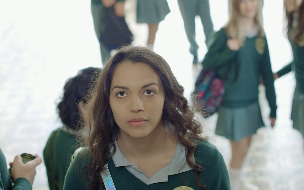 Anne Celestino Mota em cena do filme adolescente nacional Alice Júnior (2019), de Gil Baroni | Foto: Divulgação (Olhar Distribuidora)