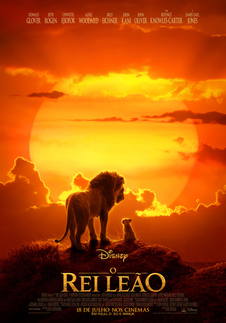 Pôster do novo filme O Rei Leão (2019) | Foto: Divulgação (Disney)