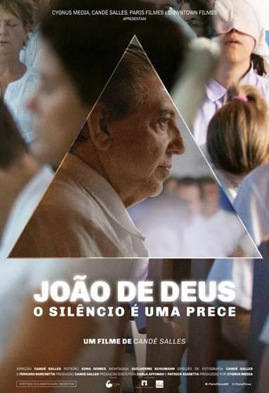 Cartaz do documentário João de Deus – O Silêncio é Uma Prece (2018) | Divulgação (Paris Filmes)