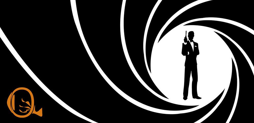 Assinatura visual do marca James Bond, junto do logo do NERVOS | Divulgação / Nayara Reynaud