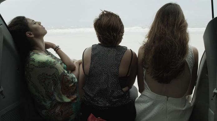 Ane Oliveira, Keila Gentil e Lorena Lobato em Para Ter Onde Ir (2016) | Foto: Divulgação (Cabocla Filmes / O2 Play)