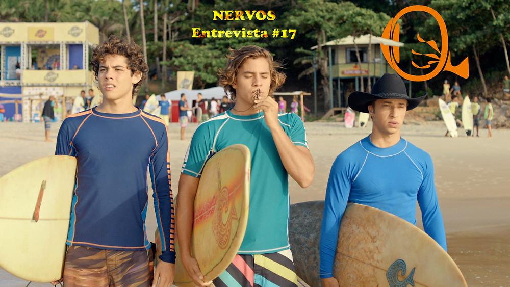 NERVOS Entrevista #17 | Bruno Astuti, André Lamoglia e Marino Canguçu em cena da série nacional Juacas (2017-) | Foto: Divulgação (Disney)