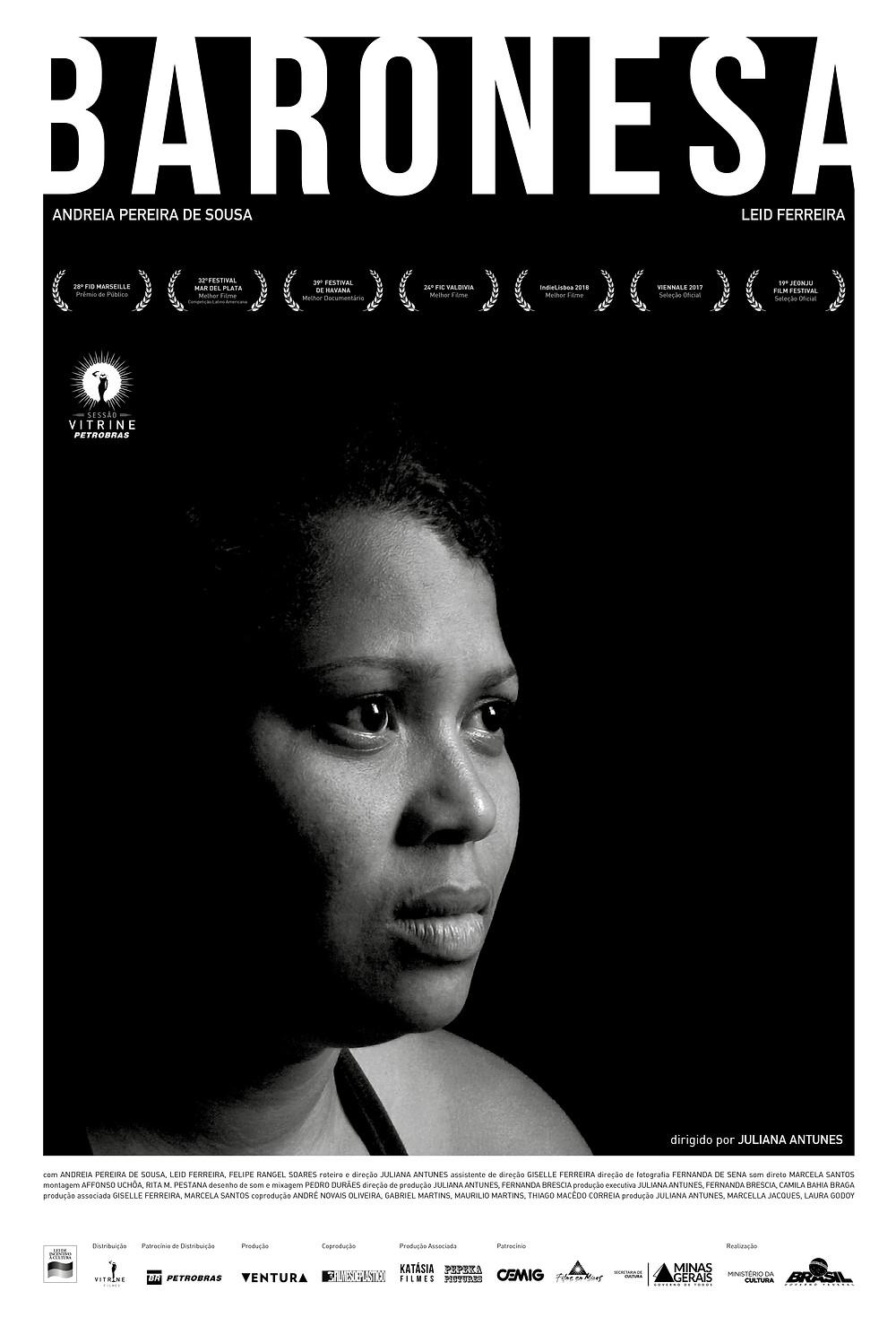 Cartaz do filme nacional Baronesa (2017) | Divulgação (Sessão Vitrine Petrobras)