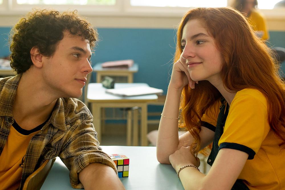 Marcus Bessa e Duda Matte em cena do filme adolescente nacional Ela Disse, Ele Disse (2019) | Foto: Divulgação (Imagem Filmes)