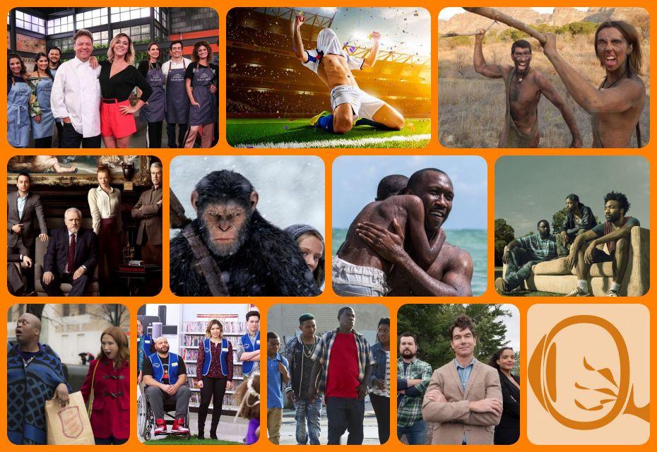 Resumão TV #48: Que Marravilha! Aula de Cozinha (2018) | History Futebol | Largados e Pelados (2013-) | Succession (2018) | Planeta dos Macacos: A Guerra (2017) | Moonlight: Sob a Luz do Luar (2016) | Atlanta (2016-) S2 | Unbreakable Kimmy Schmidt (2015-18) | Superstore (2015-) | The Last O.G. (2018) | Carter (2018) | Fotos: Divulgação
