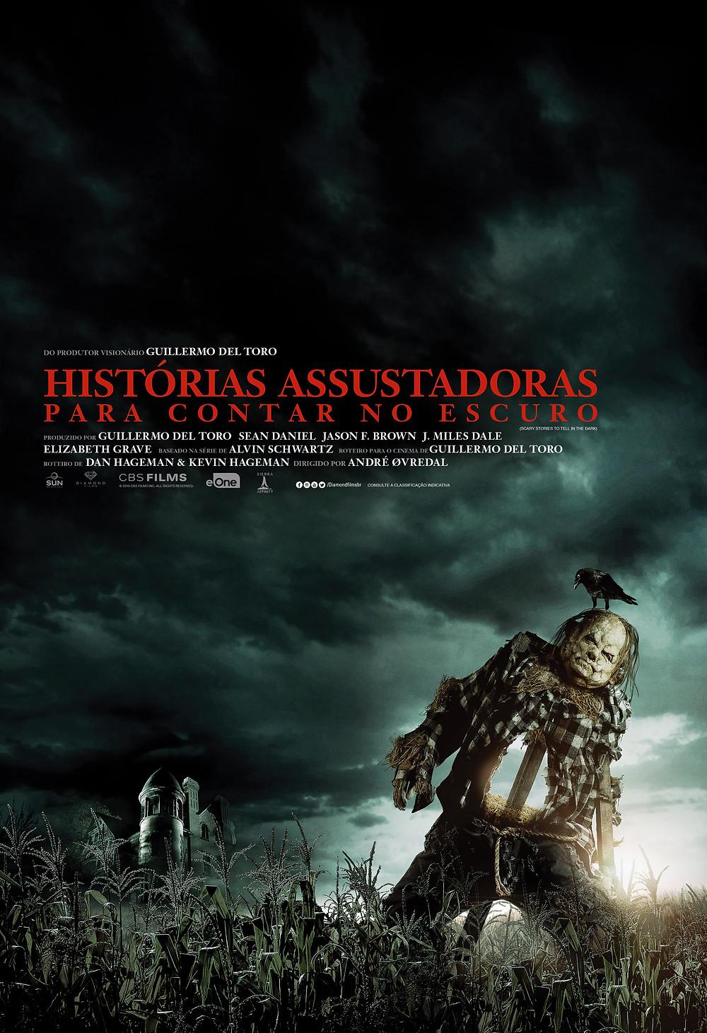 Cartaz do terror Histórias Assustadoras para Contar no Escuro (2019) | Divulgação (Diamond Films)