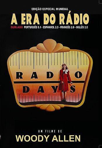 Capa do DVD do filme A Era do Rádio (1987), de Woody Allen
