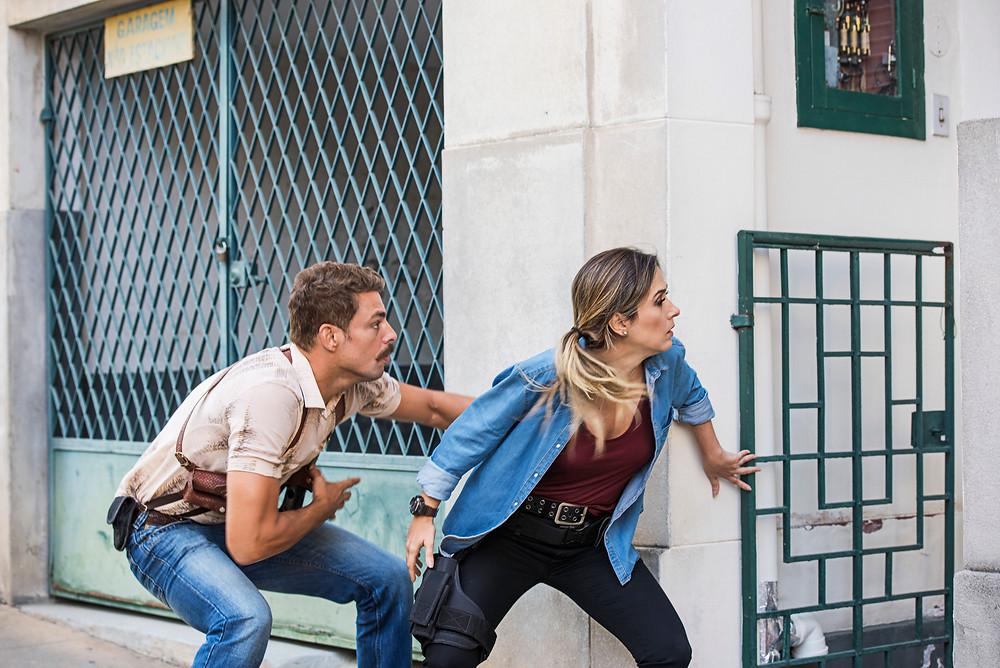 Cauã Reymond e Tatá Werneck em cena da comédia brasileira Uma Quase Dupla (2018), de Marcus Baldini | Foto: Divulgação (Créditos: Serendipity Inc)