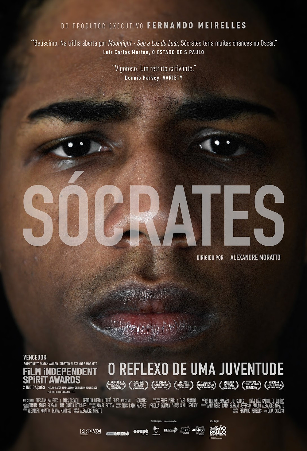 Cartaz do filme nacional Sócrates (2018) | Divulgação (O2 Play)