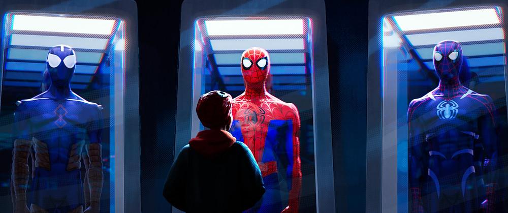 Cena da animação Homem-Aranha no Aranhaverso (2018) | Foto: Divulgação (Sony Pictures)