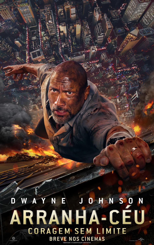 Cartaz do filme Arranha-Céu: Coragem sem Limite (2018) | Divulgação (Universal Pictures)