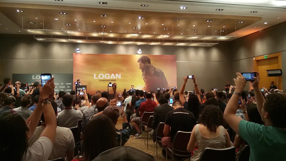 Hugh Jackman na coletiva de imprensa do filme Logan, em São Paulo, no dia 19 de fevereiro de 2017 | Foto: Nayara Reynaud